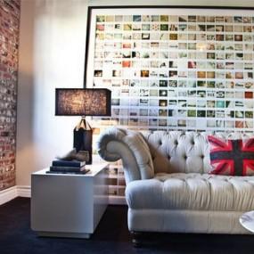 Фотографии на стенах комнат