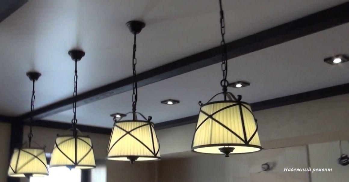 Монтаж светильников