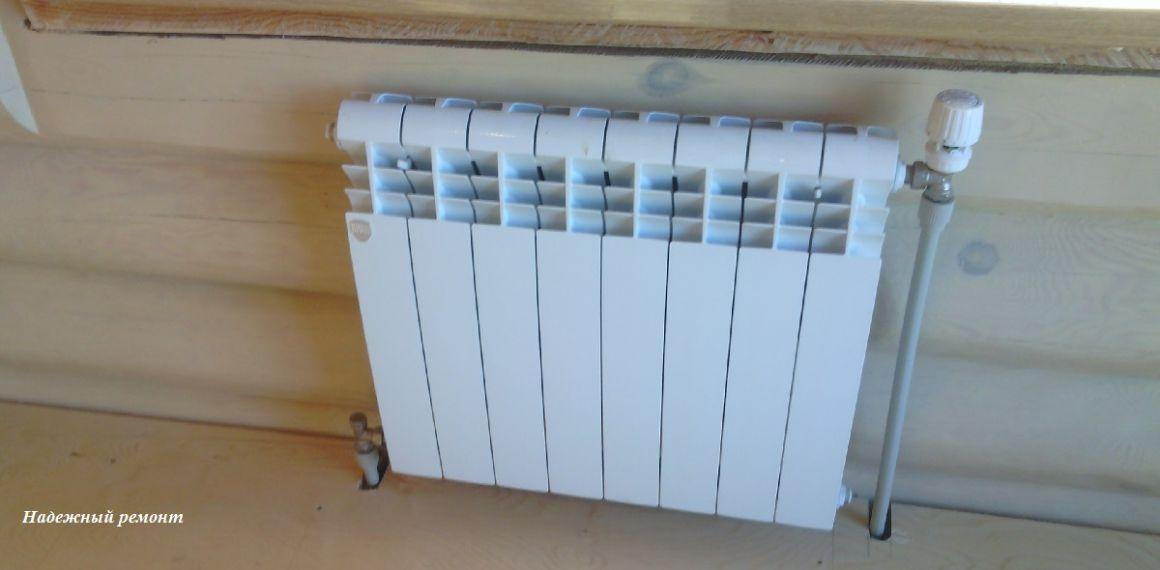 Установка радиаторов отопления с опрессовкой