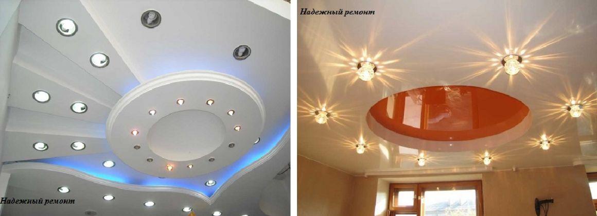 Монтаж встроенного точечного светильника в подвесном потолке