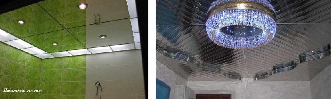 Реечные зеркальные потолки