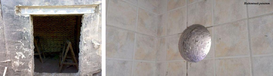 Пробивка проходных отверстий в стене