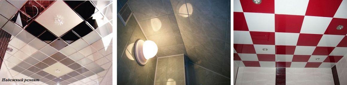 Облицовка потолков керамической плиткой стандартного размера в Омске