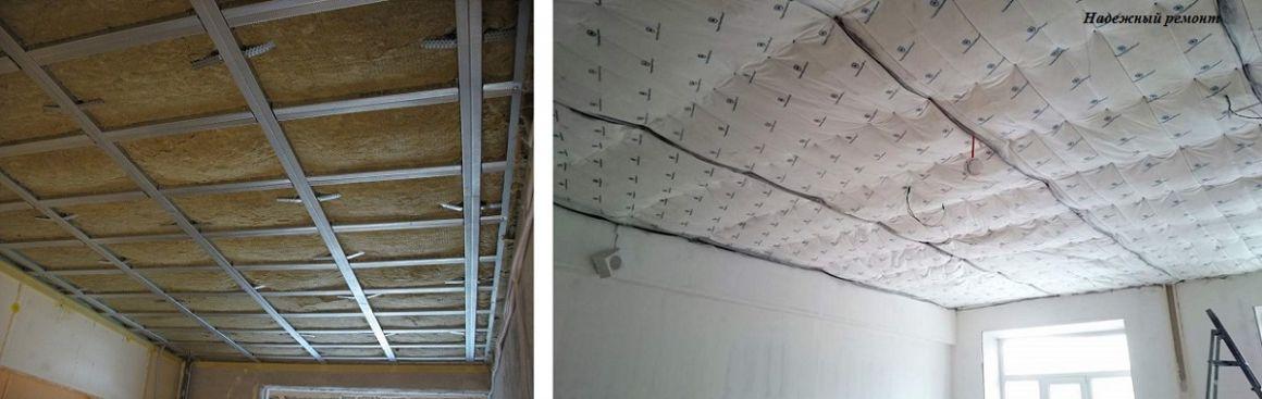 Устройство звукоизоляции потолка в Омске