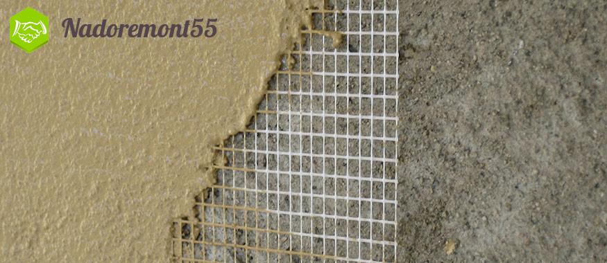 Армирование стен сеткой