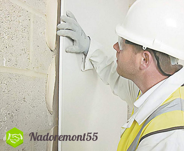 Оклейка стен листами гкл на перлгипсе